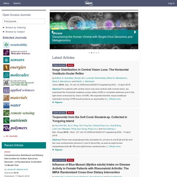 MDPI Open Access Journals Platform