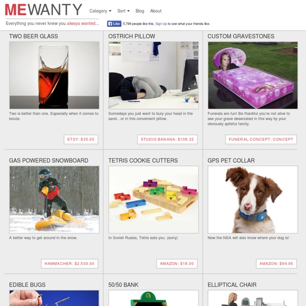 Me Wanty! The page of Wants