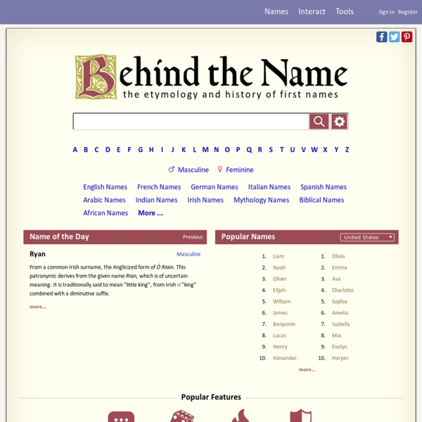 Meaning of Names, Baby Name Meanings