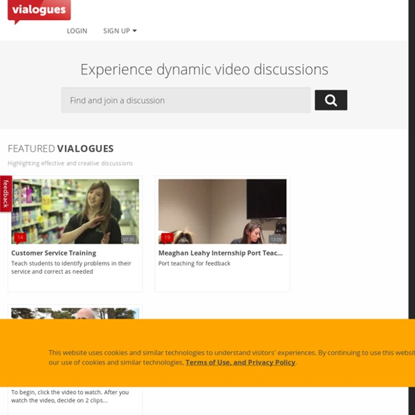 Vialogues : Meaningful discussions around video