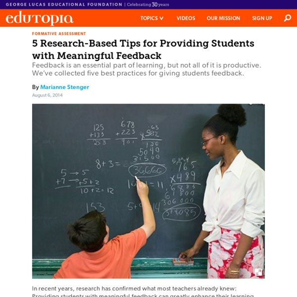 5 Research-Based Tips for Providing Students with Meaningful Feedback
