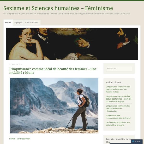 Sexisme et Sciences humaines