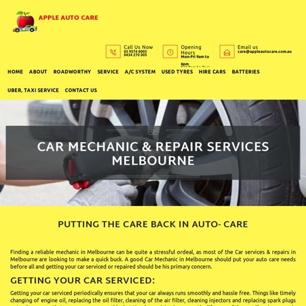 Car Mechanic Services In Melbourne - Apple Auto Care