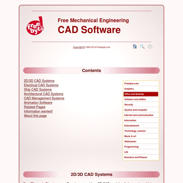 Free Mechanical Engineering: CAD Software