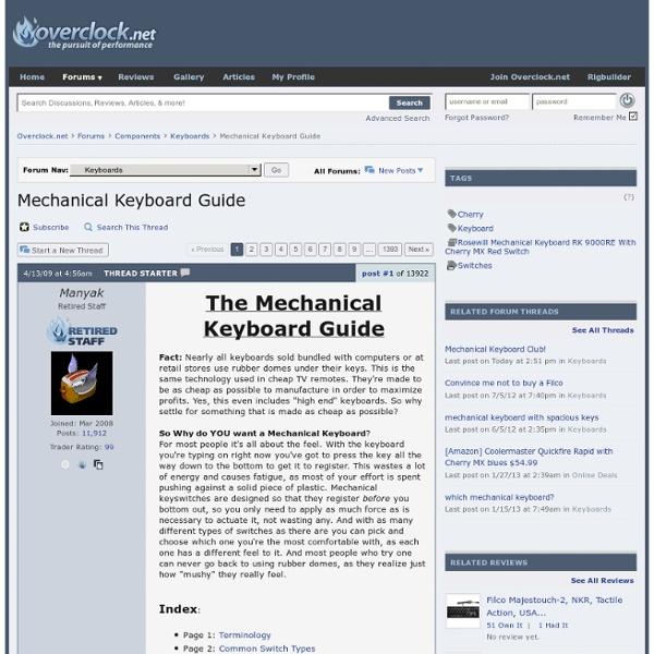 Mechanical Keyboard Guide