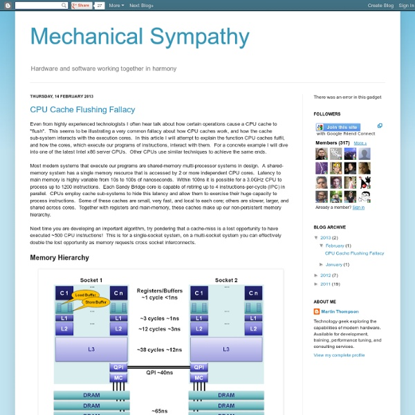 Mechanical Sympathy