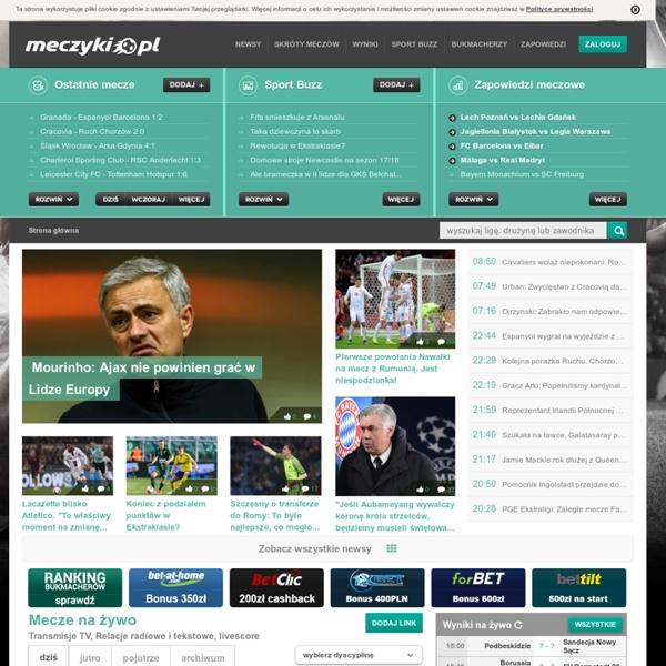 Meczyki.pl » Mecze na żywo, skróty meczów, bramki
