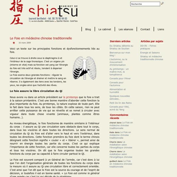 Le Foie en médecine chinoise traditionnelle