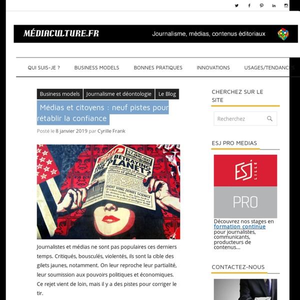 - Médias – analyse : modèles économiques, usages, sociologie…