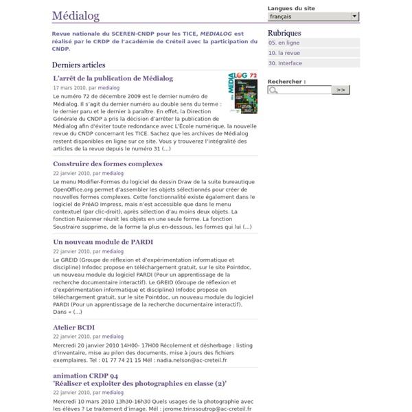 Médialog-La revue des TICE