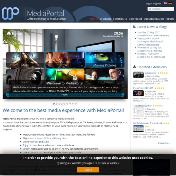 MEDIAPORTAL - a HTPC Media Center for free! - MEDIAPORTAL