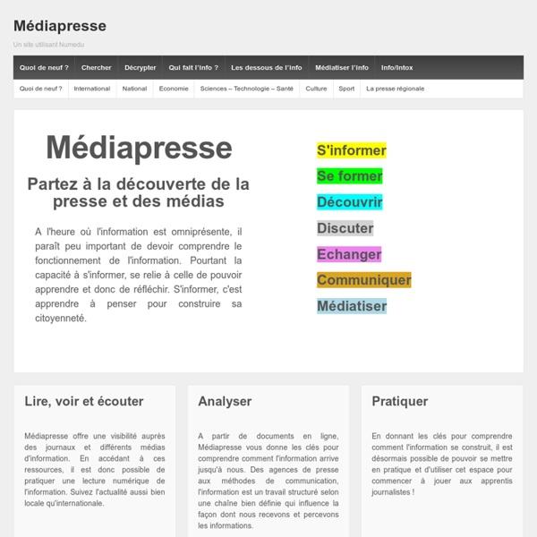 Un site utilisant Numedu