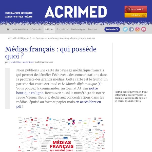 12. Médias français : qui possède quoi