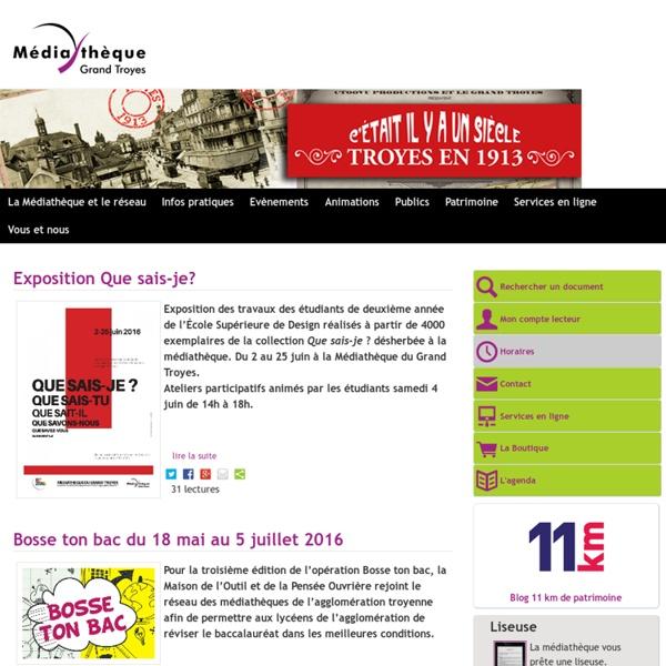Le site des médiathèques du Grand Troyes