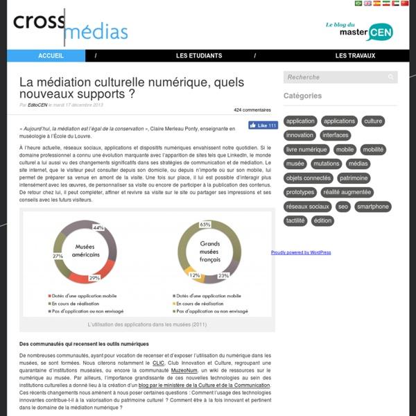 La médiation culturelle numérique, quels nouveaux supports ?