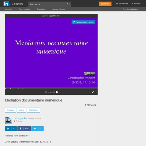 Médiation documentaire numérique