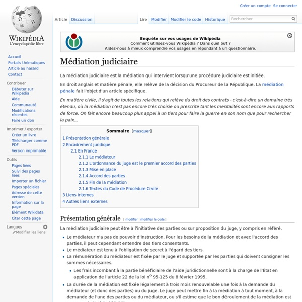 Médiation judiciaire