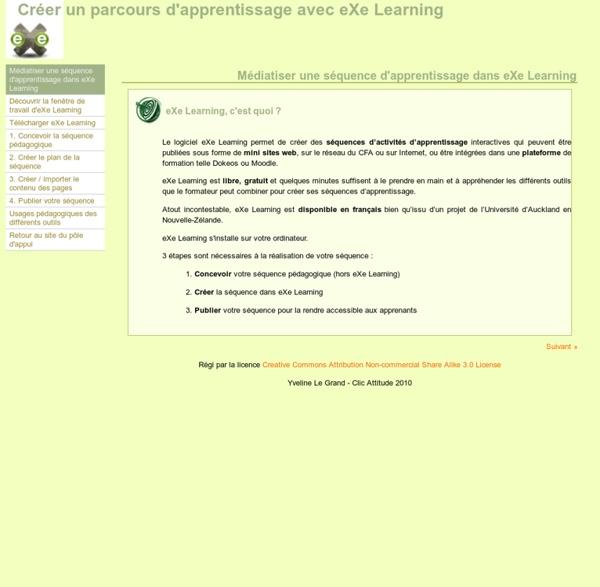 Médiatiser une séquence d'apprentissage dans eXe Learning