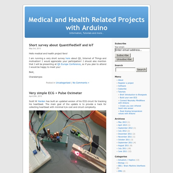 Medical and Health Related Projects with Arduino