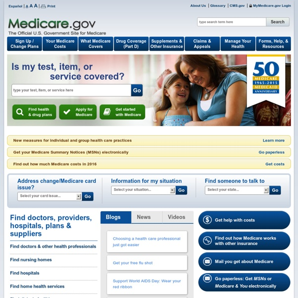 Medicare.gov: the official U.S. government site for Medicare