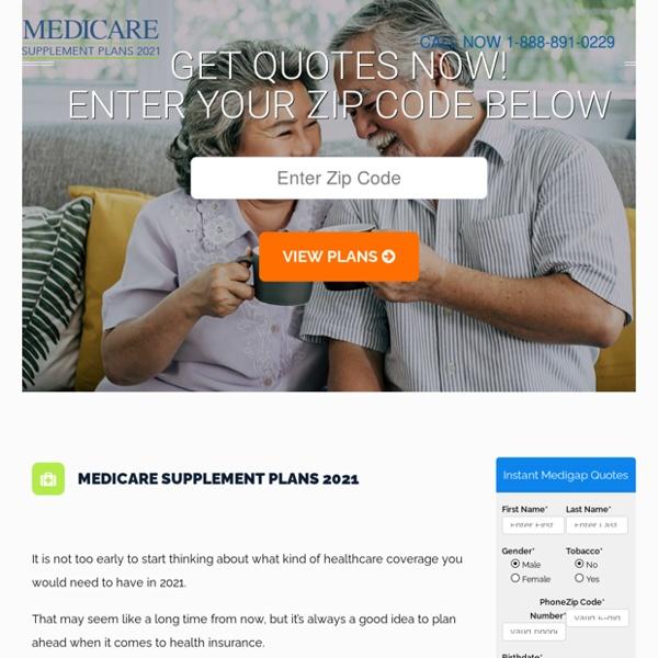 Medicare Supplement Plans 2021