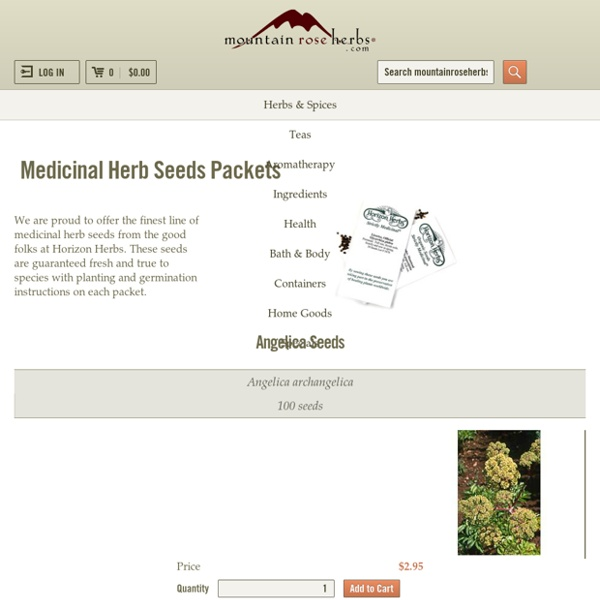 Medicinal Herb seeds From Mountain Rose Herbs