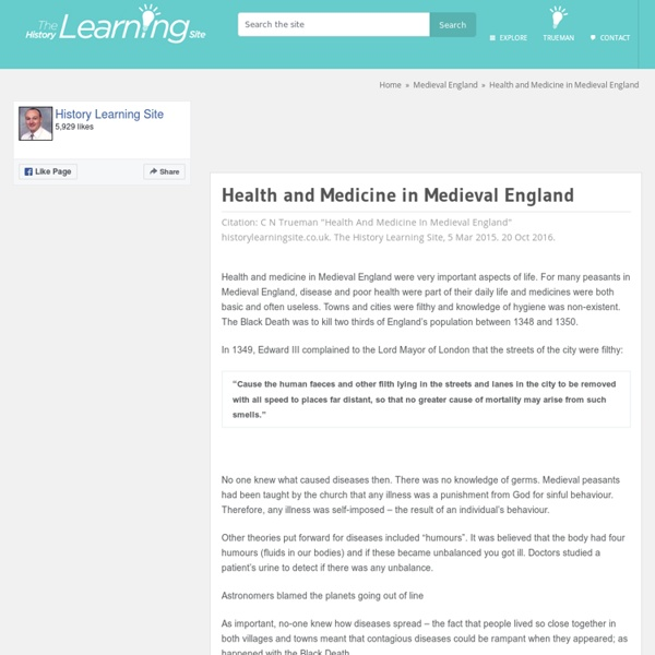 Health and Medicine in Medieval England - History Learning Site