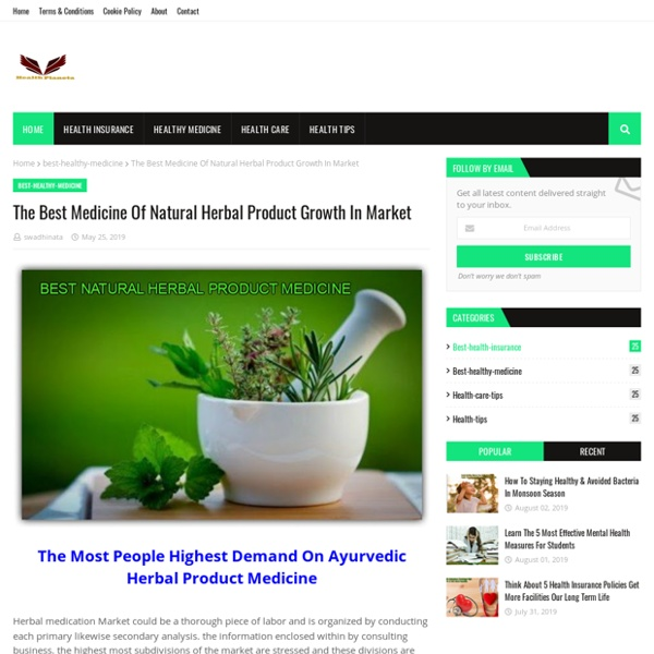 The Best Medicine Of Natural Herbal Product Growth In Market