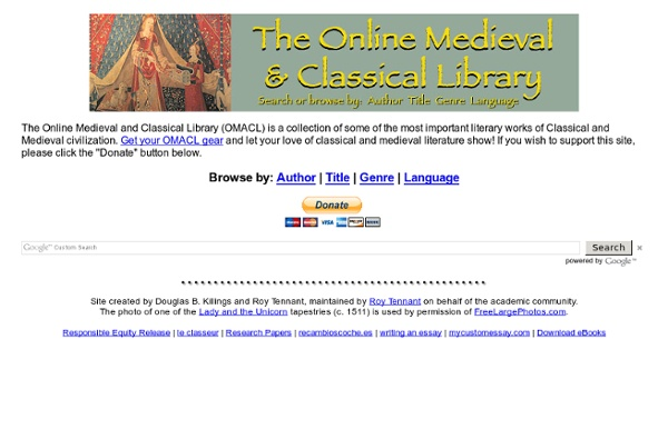 The Online Medieval & Classical Library