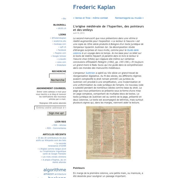 L'origine médiévale de l'hyperlien, des pointeurs et des smileys