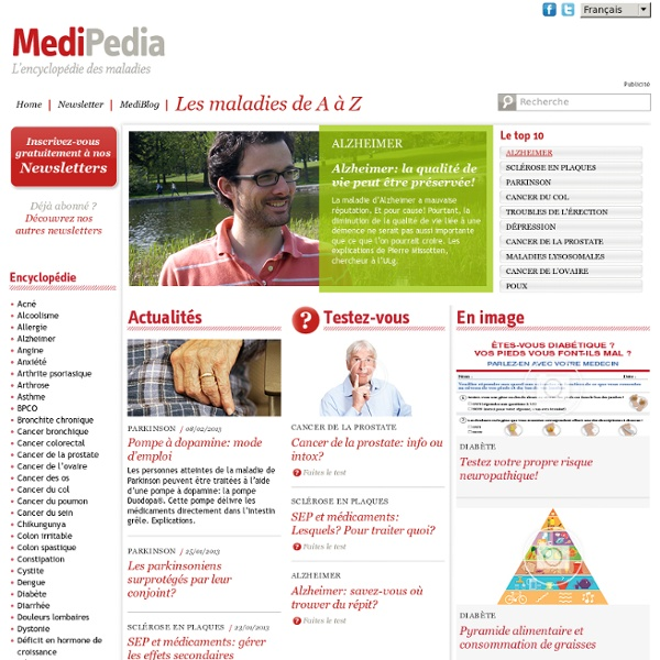 MediPedia, l'encyclopédie des maladies - MediPedia