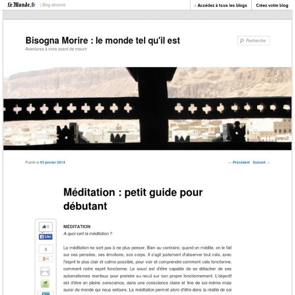 Méditation : petit guide pour débutant