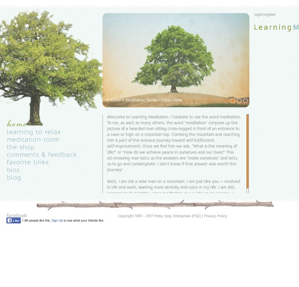 Learning Meditation at LearningMeditation.com