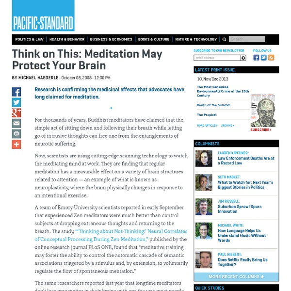 Meditation May Protect Your Brain