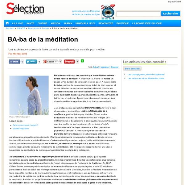 BA-ba de la méditation