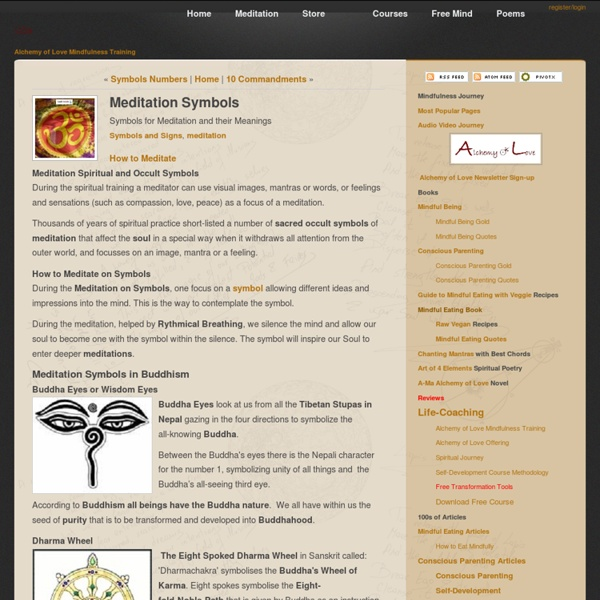 Meditation Symbols And Their Meaning Article Pearltrees