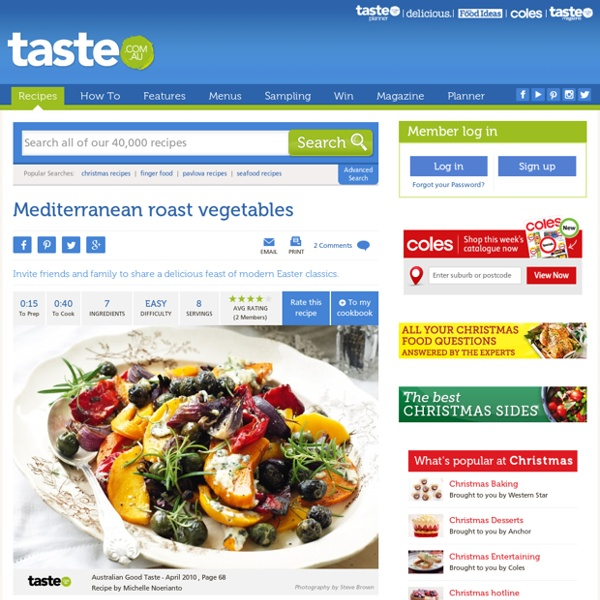 Mediterranean Roast Vegetables Recipe
