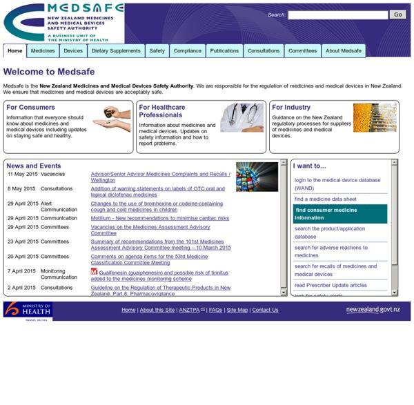 Medsafe Home Page