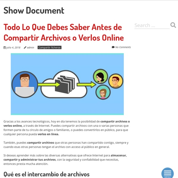 Web Meeting and Document Sharing