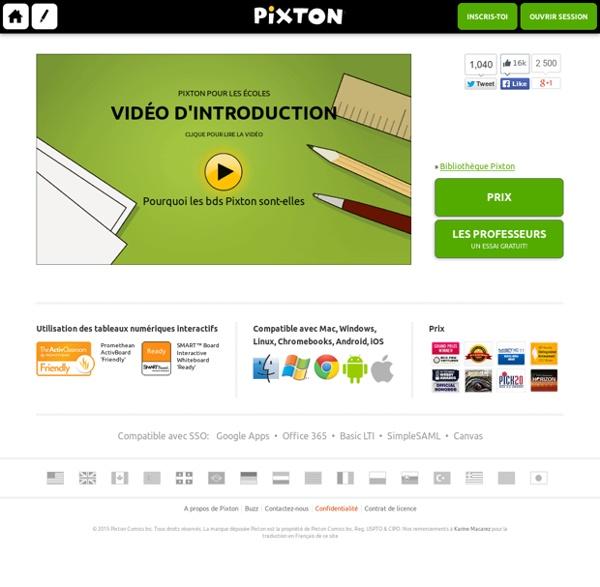 Pixton - logiciel de conception de BDs pour l'Education