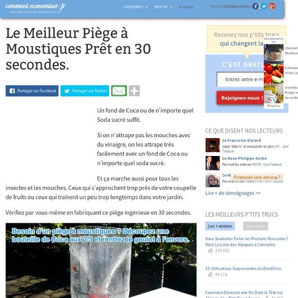 Piège à Moustiques 30 sec : coca, sodas