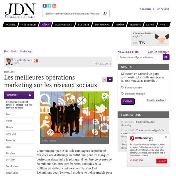 """Les meilleures opérations marketing sur les réseaux sociaux : Ces marques qui ont réussi à """"buzzer"""" sur les réseaux sociaux - Média"""