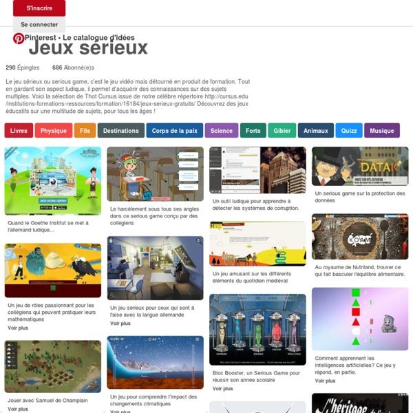 Plus de 1000 idées à propos de Jeux sérieux sur Pinterest