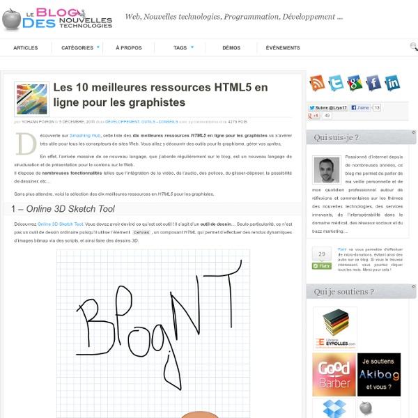 Les 10 meilleures ressources HTML5 en ligne pour les graphistes