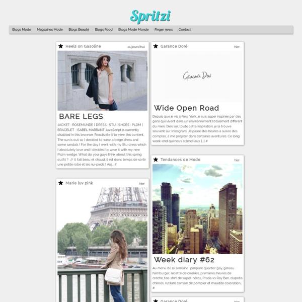 Spritzi les meilleurs blogs Mode, Beauté & Tendance actualisés en direct