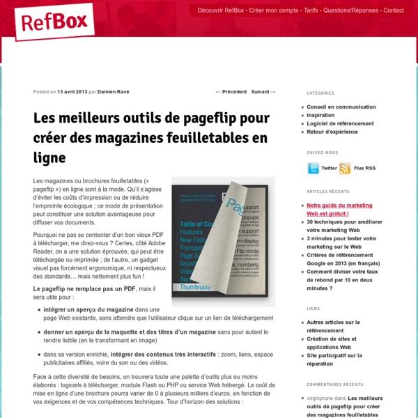 7 outils de pageflip pour créer des magazines feuilletables en ligne