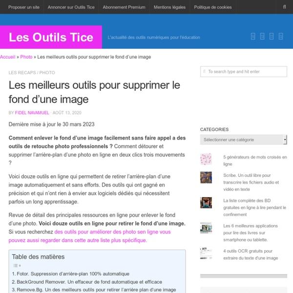 Les meilleurs outils pour supprimer le fond d'une image