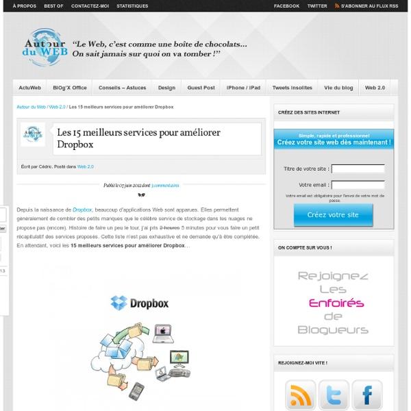 Les 15 meilleurs services pour améliorer Dropbox