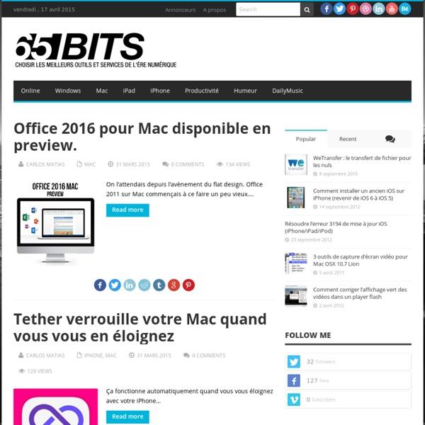 65BITS - Choisir les meilleurs outils et services de l'ère numérique