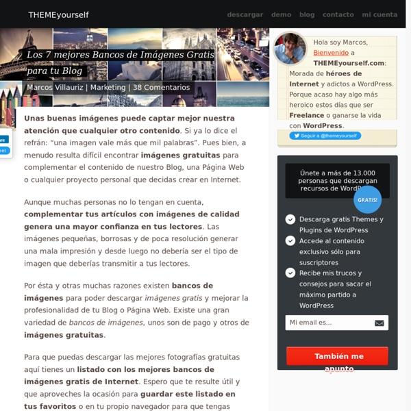 Los 7 mejores Bancos de Imágenes Gratis para tu Blog